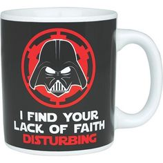 Mug Dark Vador Lack of Faith + 1 sous tasse 3d episode 7