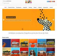 webdesign pagina voor Edart