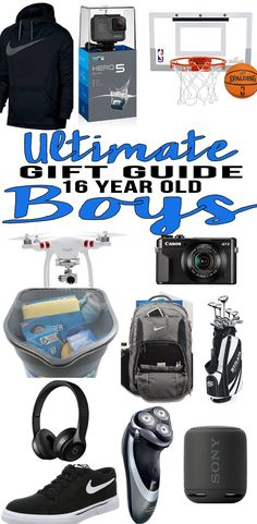 BEST Gifts 16 Year Old Boys! Top gift ideas that 16 yr old boys will love! Find presents & gift suggestions for a boys 16th birthday, Christmas or just because.Cool gifts for guys on their sixteenth bday.Wondering what to get a 16 year old boy for his birthday? We have you covered- popular gift ideas- from gadgets to electronics to sports… find the best gift ideas for a tween, teen or teenage boy! Amazing products for son, grandson, nephew, or best friend. Shop what's trending for 16 year…