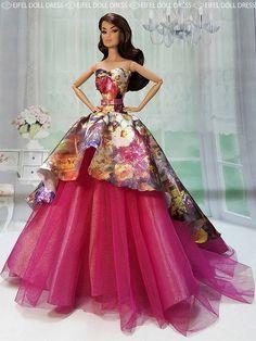 Barbie Dolls : Image : Description New Dress for sell EFDD Barbie Gowns, Barbie Dress, Barbie Clothes, Barbie Outfits, Doll Dresses, Beautiful Barbie Dolls, Pretty Dolls, Cute Dolls, Fashion Royalty Dolls