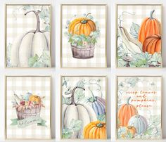 These Six Fall Farmhouse Printables come in two watercolor looks: neutral and green buffalo check. Perfect for your autumn decor. Fall Projects, History Projects, Basic Painting, Fall Patterns, Free Stencils, Free Christmas Printables, Autumn Art, Fall Home Decor, Buffalo Check