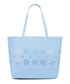 Love this Sky Blue Hallie Leather Tote on #zulily! #zulilyfinds