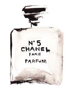 Fashion Illustration - Chanel NO 5 perfume Coco Chanel, Chanel No 5, Chanel Bags, Chanel Handbags, Mode Poster, Fotografia Social, Fashion Sketches, Fashion Illustrations, Fashion Art