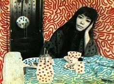 若き日の草間彌生さん。Yayoi Kusama