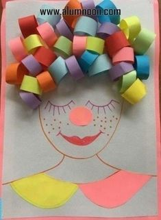 Would be good for making a clown for ow sound Clown Crafts, Paper Crafts For Kids, Diy For Kids, Easy Crafts, Diy And Crafts, Arts And Crafts, Carnival Crafts, Art N Craft, Crafty Kids