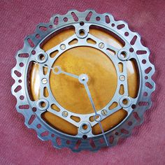 Dirt bike rotor clock. Jesse would love this for his future man cave!