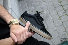 Vans Old Skool Reissue DX - Coated Black/Gum - 2016 (by loriginalnamur) Buy at: Vans.com / Foot District / Farfetch / Sneakerbaas