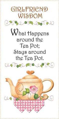 """""""La sabiduría de la novia lo que pasa alrededor de la tetera; Quédese alrededor del Pote del téte"""" atime.quenalbertini: Time for tea"""