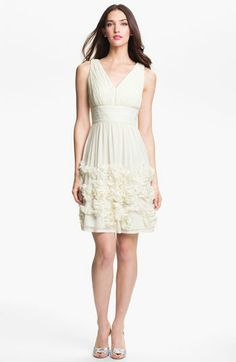 Donna Morgan 'Eloise' Ruffle Chiffon Fit & Flare Dress available at Nordstrom