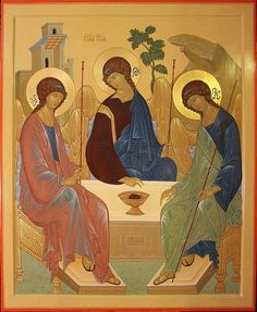 Byzantine Art, Byzantine Icons, Trinidad, Romulus And Remus, Holy Quotes, Angels In Heaven, Faith In Love, Orthodox Icons, Bible Art