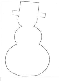 had trouble printing this snowman traced the snowman and scanned it.