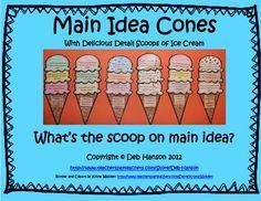 Main Idea and Details craftivity (matching the main idea a