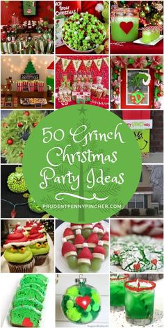 Celebrate the holidays with these creative and fun Grinch Christmas party ideas. There are over 50 ideas for food, drinks, decorations, games and crafts 50 Grinch Christmas Party Ideas Grinch Party, O Grinch, Grinch Christmas Party, Christmas Party Themes, Office Christmas, Family Christmas, Christmas Holidays, Christmas Crafts, Xmas Party Ideas
