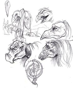 The Dark Crystal sketches