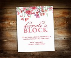 Decorate a Block Sign - Sign a Block - Block Decorating Station