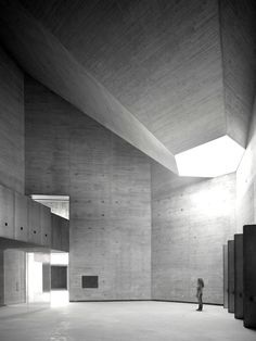 Built by Nieto Sobejano Arquitectos in Córdoba, Spain Images by Roland Halbe. Spanish firm Nieto Sobejano Arquitectos has been selected to receive the 2015 Alvar Aalto Medal. Architecture Antique, A As Architecture, Concrete Architecture, Contemporary Architecture, Contemporary Art, Installation Architecture, Futuristic Architecture, Alvar Aalto, Beton Design