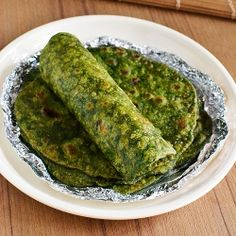 Masala Palak Paratha Recipe - Healthy Greens Parathas