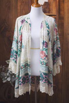 Floral and Lace Kimono