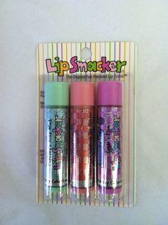 Free: NIP 3 each Lip Smacker LipSmacker with glitter on packaging - Lip Makeup 90s Makeup, Cute Makeup, Hydrating Lip Balm, Cute School Supplies, Lipstick Queen, Makeup Palette, Lip Gloss, The Balm, Childhood