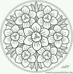 Mandalas para pintar mandalas de flores mandalas - Tappeto mandala ...