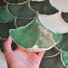 Brick Tiles, Wall Tiles, Backsplash Tile, Brick Flooring, Ginkgo, Handmade Tiles, Handmade Ceramic, Ceramic Mosaic Tile, Ceramic Art
