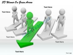 1113 3D Winner on Green Arrow Ppt Graphics Icons Powerpoint #Powerpoint #Templates #Infographics