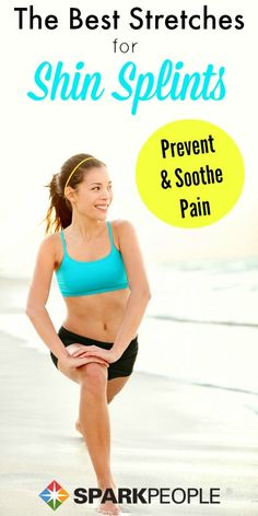 Kiss your shin splints goodbye with this quick stretching routine! | via @SparkPeople #fitness #running #workout #stretching Fitness Tips, Fitness Motivation, Health Fitness, Women's Health, Running Workouts, Running Tips, Cardio Workouts, Nutrition Education, Shin Splint Exercises