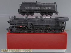 HO Brass Model Train - WMC Westside SP Southern Pacific 4-10-2 SP-2/SP-63 #5027 - Custom w/ Reboxx