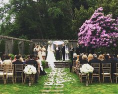 Our Gold Chivari Chairs in this wedding by Holly Kate Foss