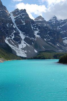Moraine Lake, Banff National Park - British Columbia, Canada.  By mcdanielism, via Flickr