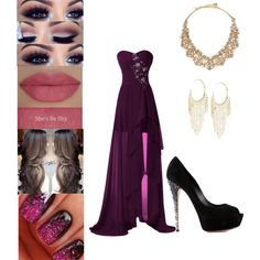 Stylish Prom Outfit by rena132001 on Polyvore featuring polyvore fashion style Casadei Kate Spade Lydell NYC She's So