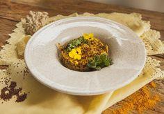 Risoto de quinoa e shimeji