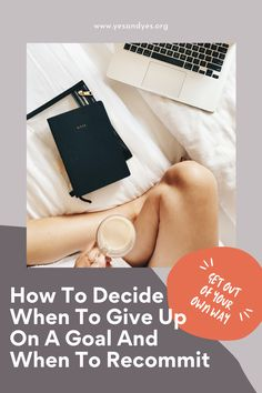 If you're not sure if you should give up on your goal or if you should double down, this is for you. This goal setting advice is for all of us when we screw up! Self Development, Personal Development, When To Give Up, Goal Planning, You Better Work, Motivation Goals, Personal Goals, Success Mindset, Self Improvement Tips