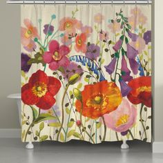 Couleur Printemps III Shower Curtains By Shirley Novak Shabby Chic Bathroom Accessories