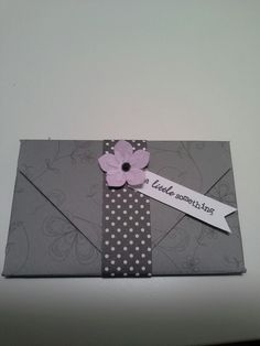 Gift card wallet using the SU Envelope Punch Board