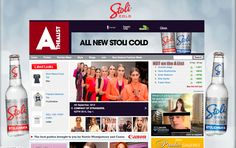 Stoli Site skin on www.thealist.co.nz