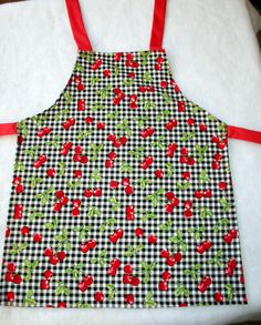 Childrens Apron Cherries by MissSewanSew on Etsy, $11.99
