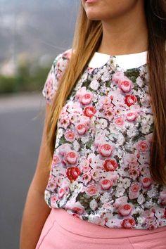 So Girly :)  #Zara #Blouse #Skirt