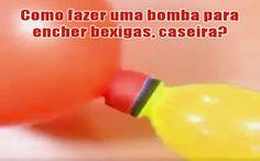 Aprenda como fazer uma bomba para encher bexigas/balões com uma garrafa PET. Dica muito simples e fácil de fazer. Enchedor de bexigas caseiro.