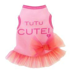 Tu Tu Cute Tank Dog Dress - Pink