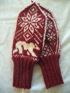 Etter mønster fra fru Soleng Chart Design, Knit Mittens, Crocheting, Knit Crochet, Knitting, Clothing, Crafts, Fashion, Crochet