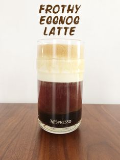 NESPRESSO VERTUOLINE + SEASONAL COFFEE DRINKS – Frothy Eggnog Latte