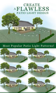 How to hang patio lights and patio light pattern ideas. Like and Repin. Thx Noelito Flow. http://www.instagram.com/noelitoflow