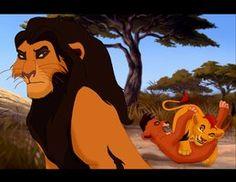 King Ahadi watching his two sons (Taka and Mufasa) playing. Two Princes Lion King Simba's Pride, Scar Lion King, Lion King Fan Art, Lion Art, Lion King Funny, Animated Disney Characters, Anime Lion, The Lion King Characters, Lion King Drawings