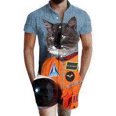 c7bcf3c53d0 3D Printing adult male romper Space Cat