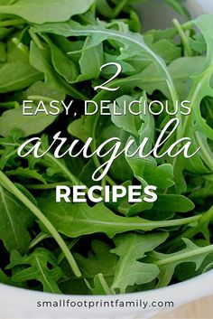 Far from being a food for the elite, arugula can be found growing wild all over North America. Here are two delicious arugula recipes to help you enjoy it. Arugula Recipes, Pesto Recipe, Pesto Sauce, Raw Food Recipes, Healthy Recipes, Diabetic Recipes, Easy Recipes, Healthy Salads, Healthy Food