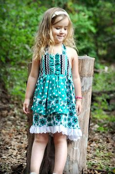 Girls Sewing Pattern Dress  pdf pattern  Apron by ThreadCouture, $6.99