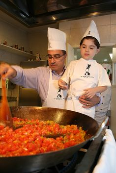 https://flic.kr/p/GGxPmN | Father and Son Cooking - By F. Riesemberg