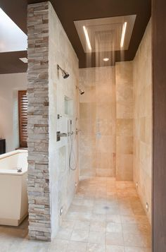 Open double shower