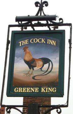 Cock Inn, Boreham Shop Signage, Signage Design, Uk Pub, Pub Signs, Antique Shops, Pet Birds, Cottages, Roosters, Coffee Shops